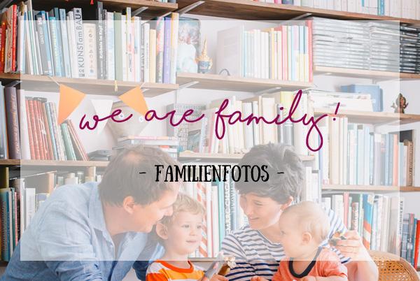 gelb + weiß + blau = Familienfotos im Retrostyle