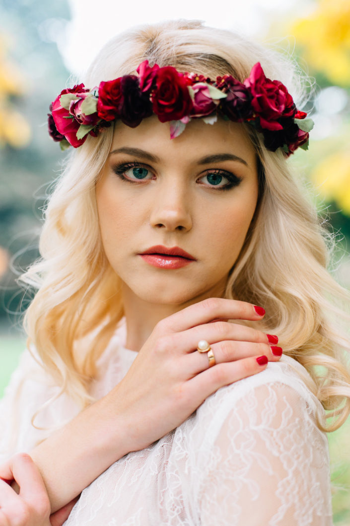 Haarkranz für die Bohemian Wedding von we are flowergirls