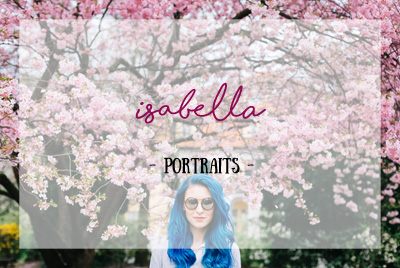 Isabella im Kirschenblütenregen (portraits)